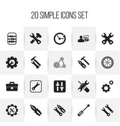 Set of 20 editable repair icons includes symbols vector