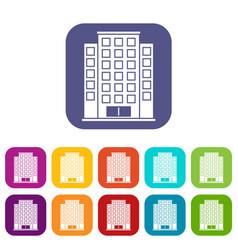 Skyscraper icons set vector