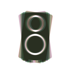 speaker sign colorful icon vector image vector image