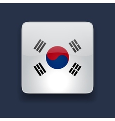 Square icon with flag of South Korea vector