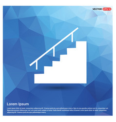 Stairs icon vector
