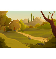 Summer forest concept vector