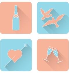 Symbol set for Valentines Day vector image