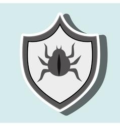 symbol virus warning alert vector image