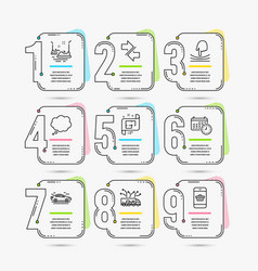 Synchronize comic message and bumper cars icons vector