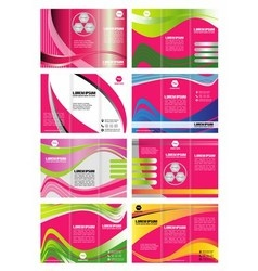 Tri-fold Brochure Design Element vector