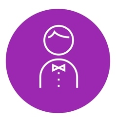 Waiter line icon vector