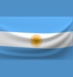 waving national flag of argentina vector image