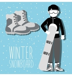 Winter sport and wear accessories vector