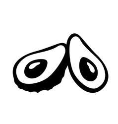 Avocado Icon Art vector image