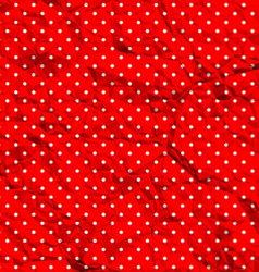 Crumpled polka dot pattern vector image vector image