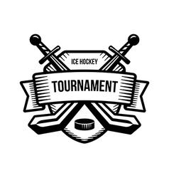 Ice hockey sport tournament logo vector