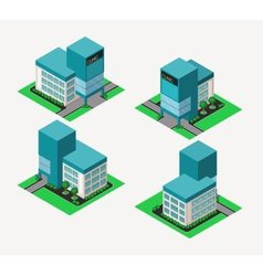 isometric clinic vector image vector image