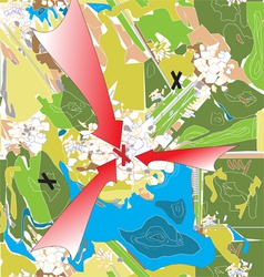 plan of attack vector image vector image
