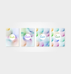 poster covers set with circle shapes 2 vector image vector image