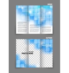 Technology tri fold brochure vector image