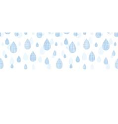Abstract textile blue rain drops horizontal vector image vector image