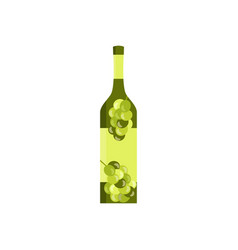 bottle with the image of olives or grapes flat vector image vector image