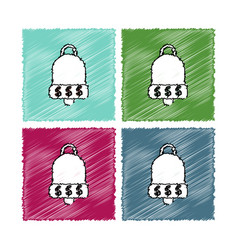 collection of flat shading style icons bell with vector image vector image