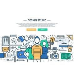 Design Studio - line design website banner vector image vector image