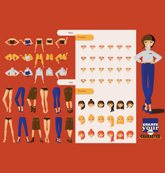 lovely office girl character with lots of spare vector image