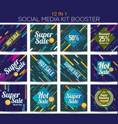 Multipurpose social media kit booster vector