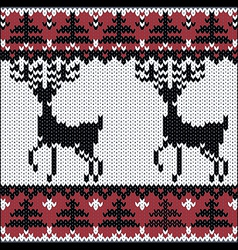 winter knitted nordic pattern vector image vector image