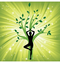 woman meditating yoga vector image vector image