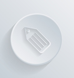 circle icon with a shadow label vector image