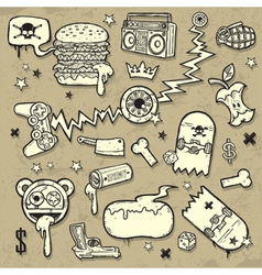 collection of grunge clip-art vector image vector image