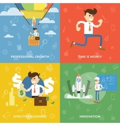 Concept of personal success and growth vector image