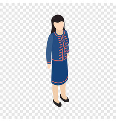 female singaporean isometric icon vector image vector image