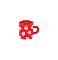flat hot beverage cup icon vector image