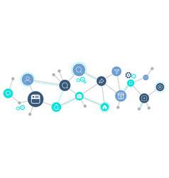 social media icon connection concept vector image