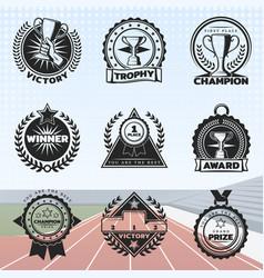 vintage sport rewards labels set vector image