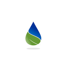 water drop leaf nature logo vector image vector image