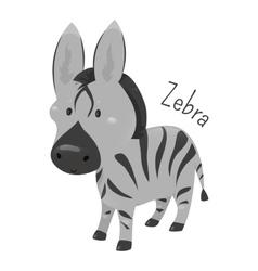 Zebra isolated Child fun pattern icon vector image