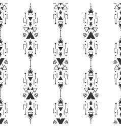 black and white navajo aztec seamless vector image