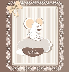 greeting mouse vector image vector image