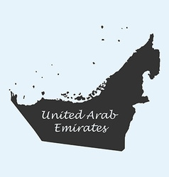 Map of United Arab Emirates vector image vector image