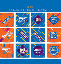 multipurpose social media kit booster vector image vector image