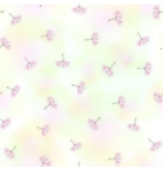 Seamless with dandelion seeds flying vector image