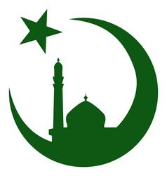 Symbol of Islam and mosque ramadan vector image vector image