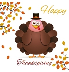 Turkey in cartoon style vector image