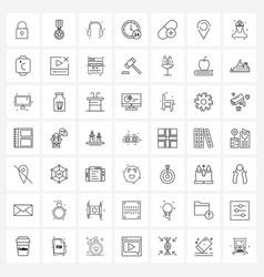 49 interface line icon set modern symbols on vector