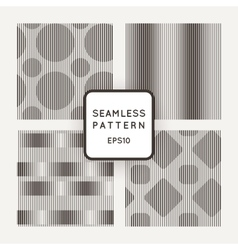 A set of four seamless pattern of parallel vector image