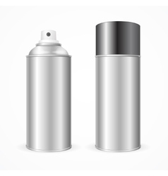 Aluminium Spray Can Template Blank vector image