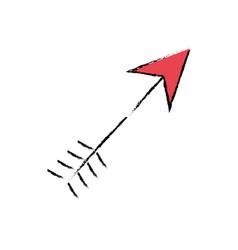 arrow love card icon vector image
