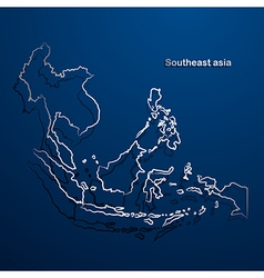 Asean map2 vector image