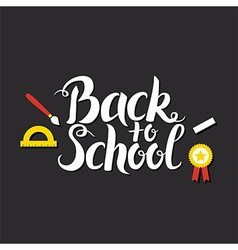 Back to School Lettering over Blackboard vector